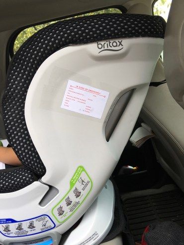 ICE Car Seat Label - www.spousesproutsandme.com