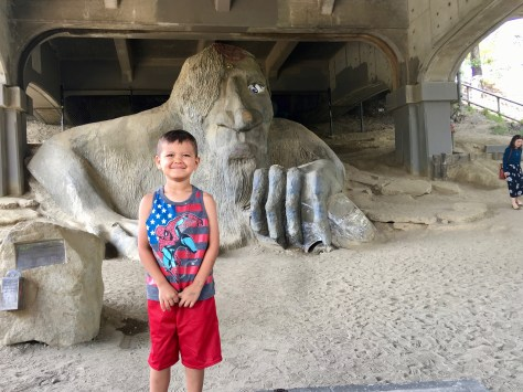 Family Travel Guide - Seattle: Fremont Troll - Spousesproutsandme.wordpress.com
