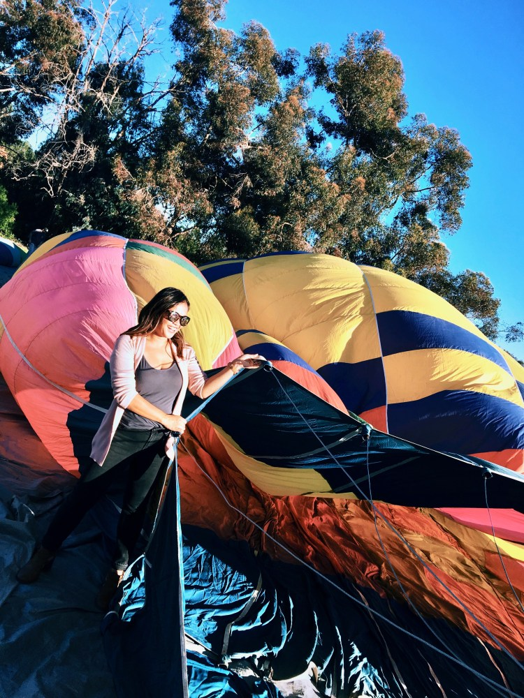 An Unexpected Christmas Present: Hot Air Balloon Ride - Compass Balloons - www.spousesproutsme