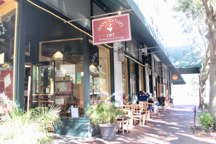 Travel Guide: Savannah, GA - Goose Feathers Cafe - www.spousesproutsme.com