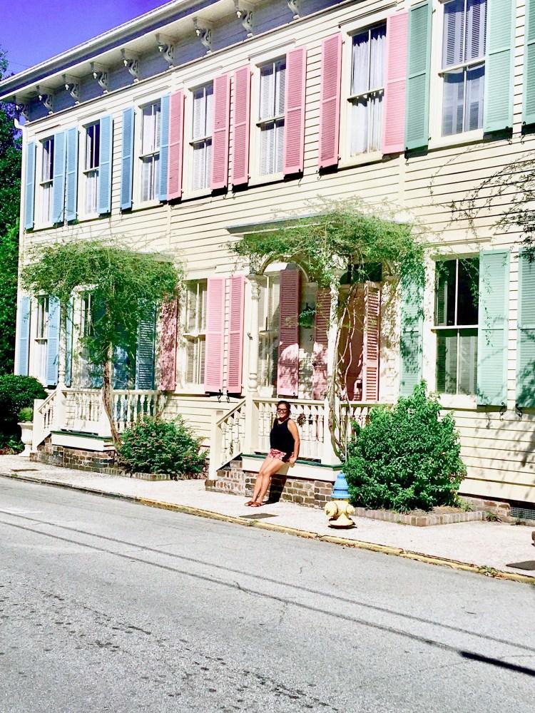 Travel Guide: Savannah, GA - Rainbow Row - www.spousesproutsme.com