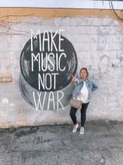 Make Music Not War Mural - Nashville Travel Guide - www.spousesproutsme.com