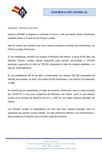 ESTADÍSTICAS SANCIONES COVID-19 – 1