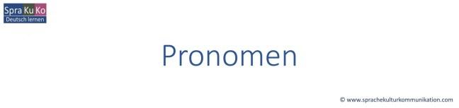 Deutsch lernen - Grammatik - Pronomen
