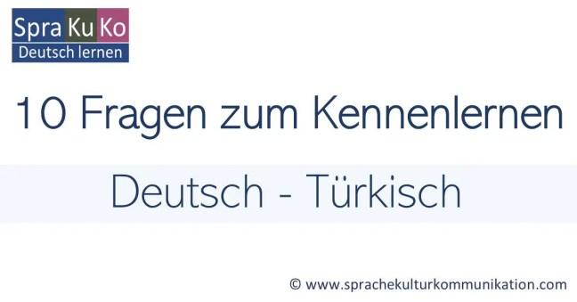 """Wie sagt man """"Wie heißen Sie"""" auf Türkisch?"""