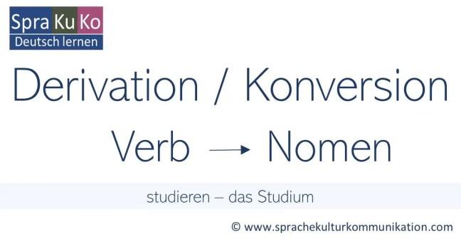 Nominalisierung von Verben