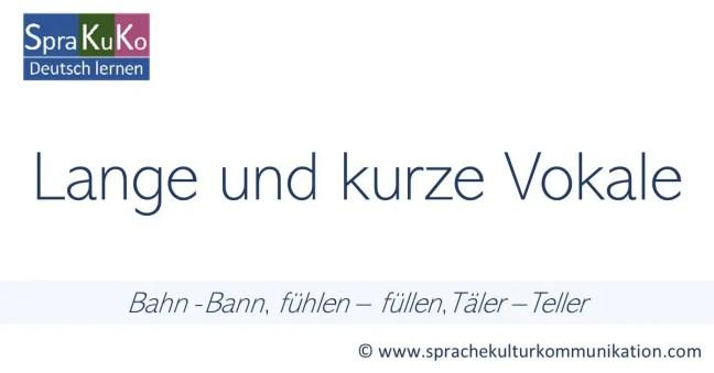 Lange und kurze Vokale im Deutschen