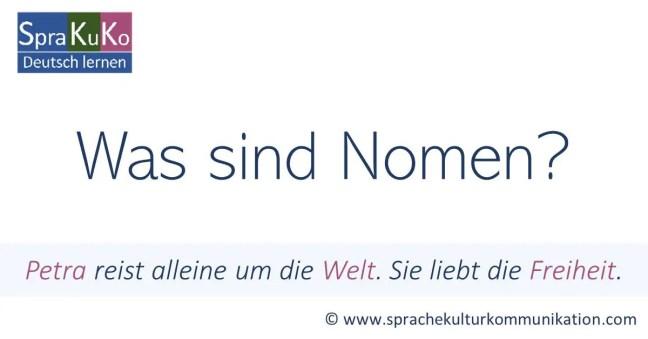 Was sind Nomen?