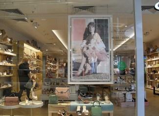 Ein Blick in einen Schuhladen. Die Läden haben eine große Auswahl und sind die etwas preisweitere Alternative zum Kaufhaus GUM.