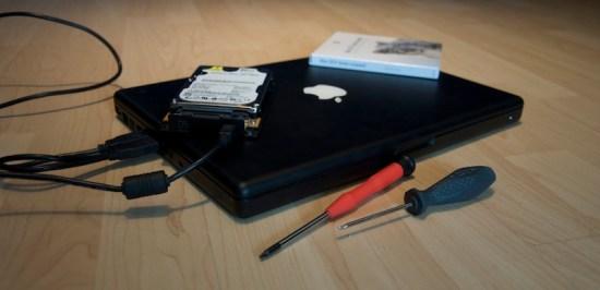 Eine neue Festplatte für das MacBook