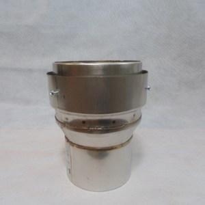 Stainless Steel 125-150 Flexi Flue Adaptor