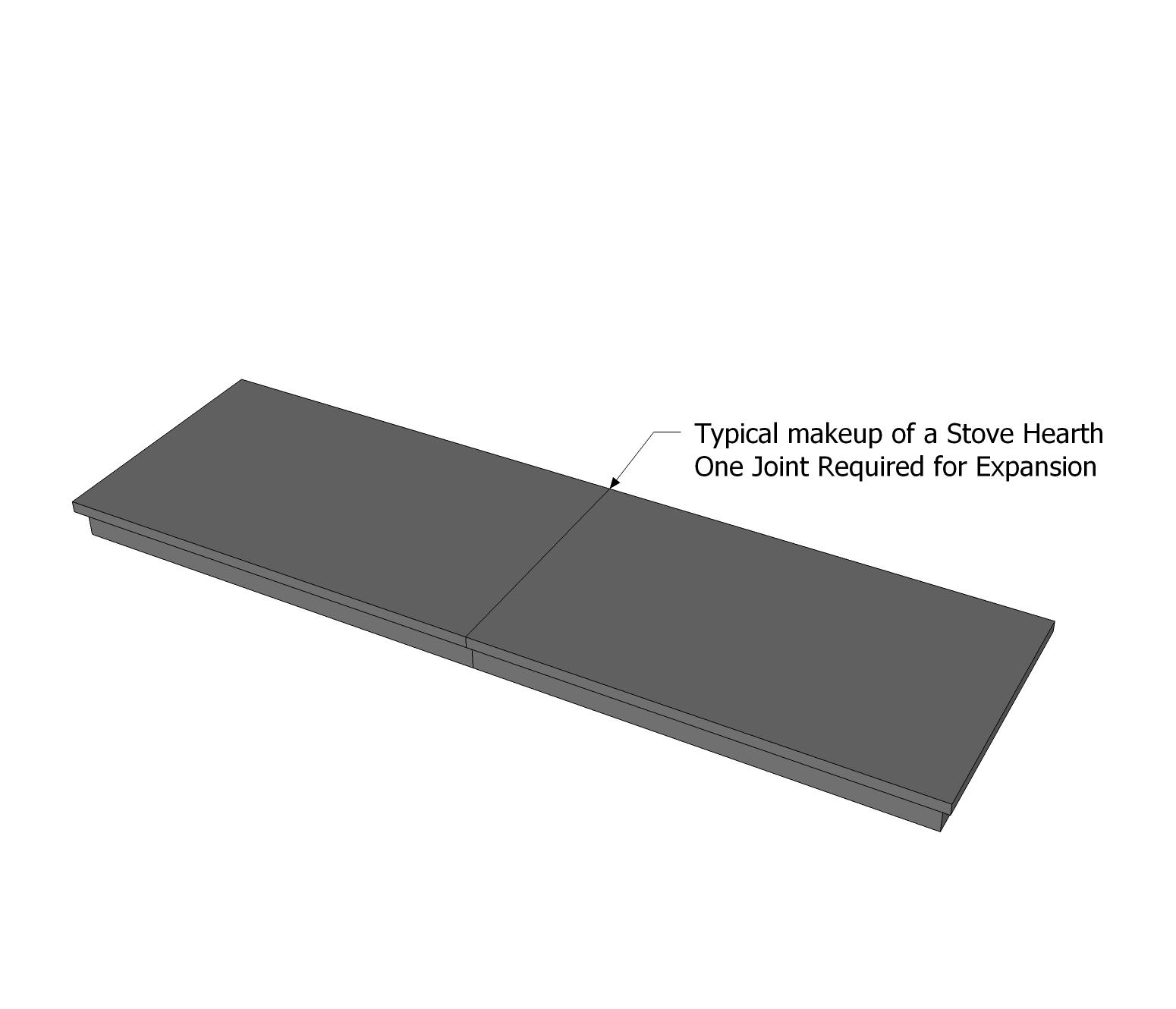 Custom Made Honed Granite Hearth One Joint