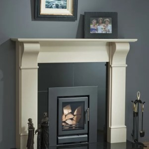 Ariel Corble Marble Fireplace