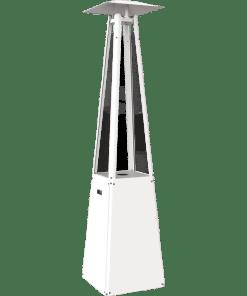 Kratki Umbrella Patio White Gas Heater Steel