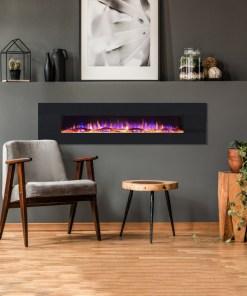 EZEE GLOW 72'' XL ZARA BLACK WALL HUNG ELECTRIC FIRE