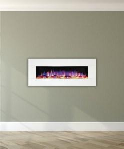 "Ezee Glow 50"" White Wall Mounted Electric Fire"