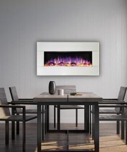 "Ezee Glow Mini Zara 42"" White Wall Mounted Electric Fire"