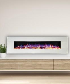 Ezee Glow Zara 60″ White Wall Mounted Electric Fire