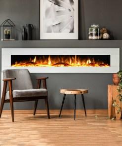 Ezee Glow Zara 72″ White Wall Mounted Electric Fire