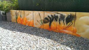 Graffitiauftrag Gartenmauer 1