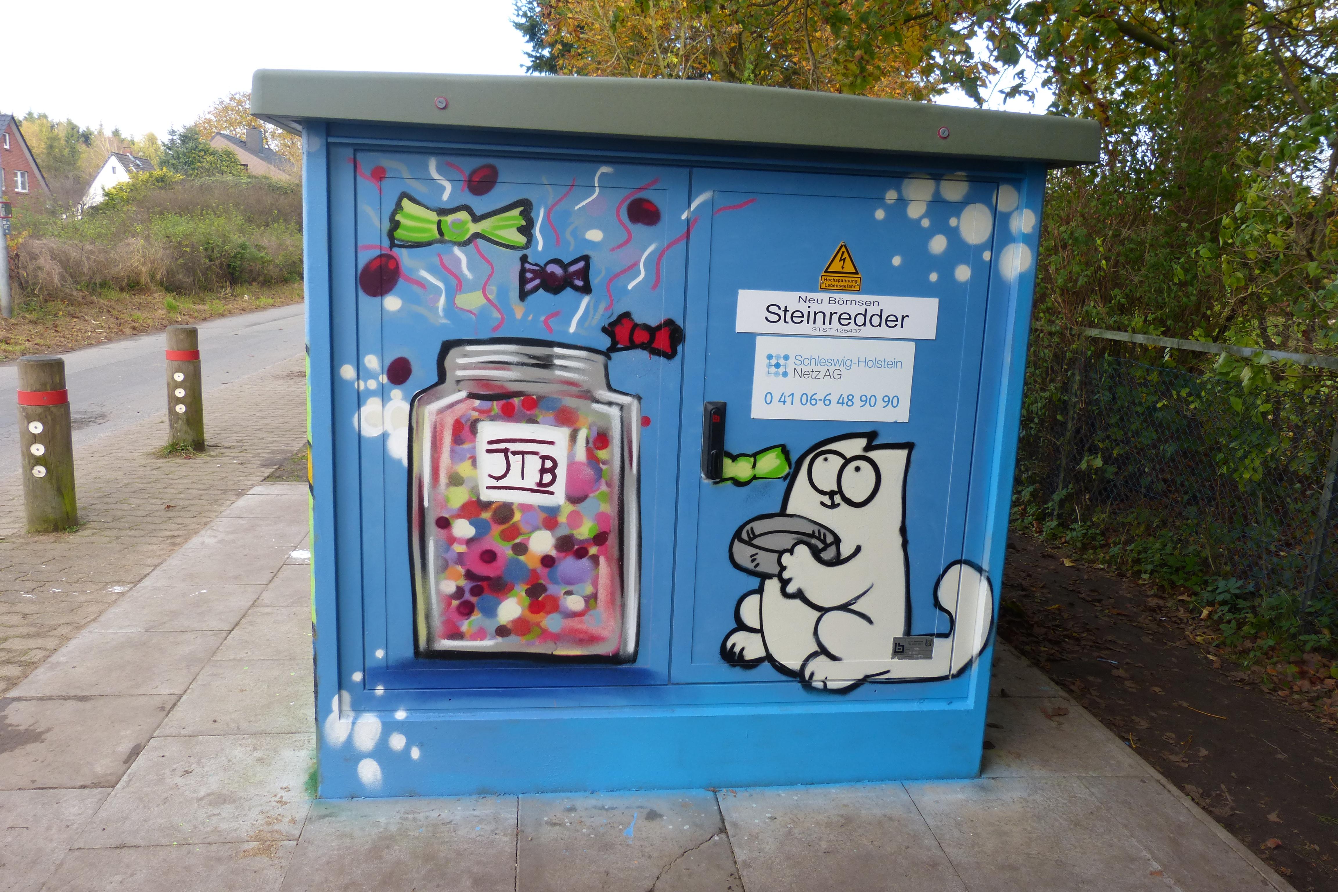 Graffitiworkshop Stromkasten Börnsen Ergebnis 4