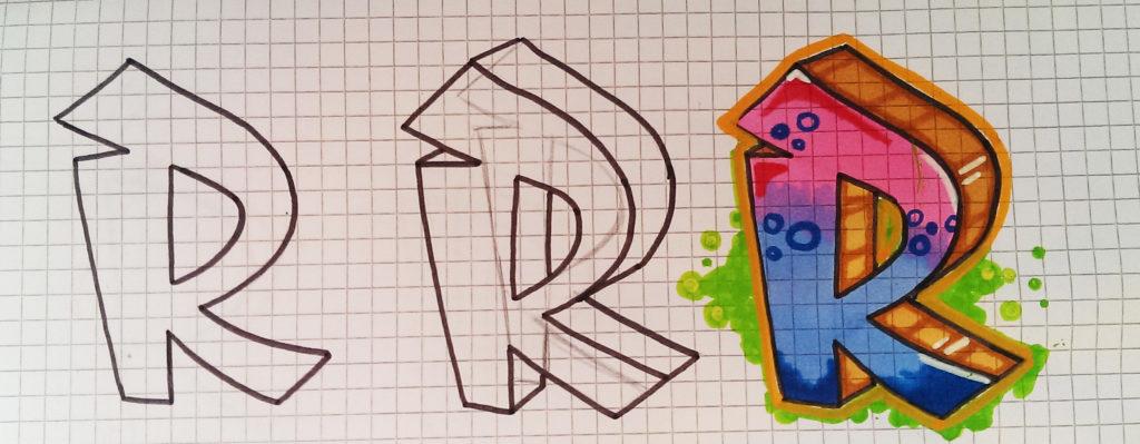 3d Buchstaben Zeichnen Lernen Tutorial Dekoking Diy