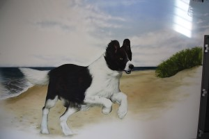 Trixie Graffiti Auftrag Tarp Flensburg Hund nah