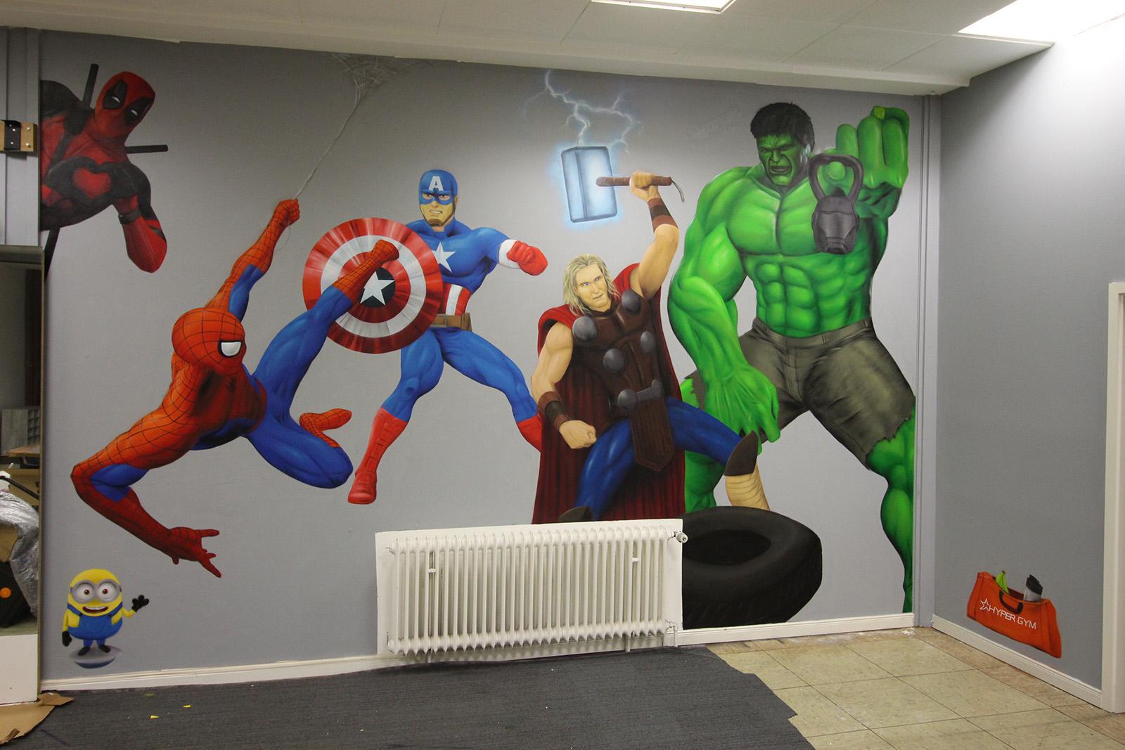 Graffitiauftrag Hyper Gym Avengers