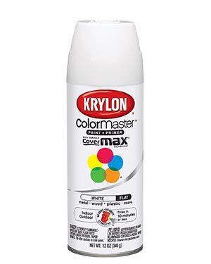 Krylon K05151202 Flat White Interior And Exterior Decorator Paint