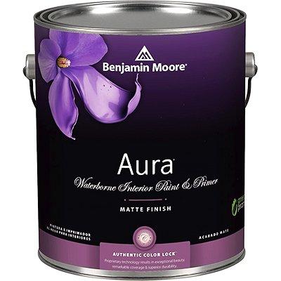 Benjamin Moore Aura Waterborne Interior Paint - Semi-Gloss-White