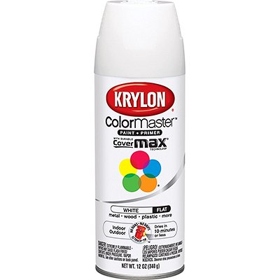 Krylon K05151202 Flat White Decorator Paint