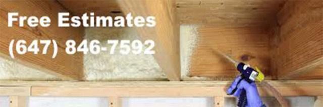 low cost spray foam insulation college street west Toronto
