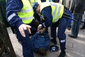 Iako policija isprva nije željela primjenjivati silu, drugo im nije preostalo nakon što je pomahnitali mladić izjavio da vjeruje da će hrvatska poštovati europske sporazume i izručivati ljude optužene za ubojstvo u nekoj od europskih država.