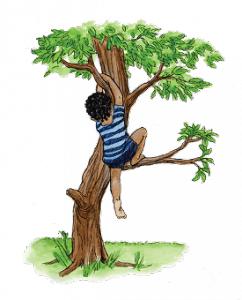 Ako se ikad osjećaš nemoćno, samo se sjeti da si se nekad prije morao popeti na drvo kako bi ubrao pravu šibu kako bi je donio mami da bi te ona mogla udarit njom jer si joj razbio saksiju krizanteme.