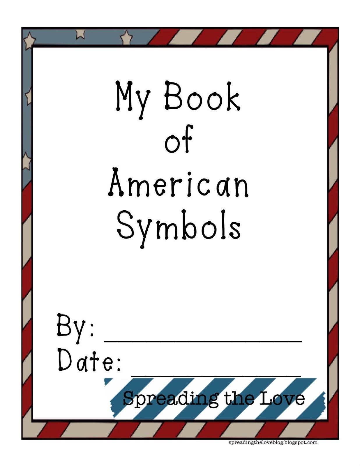 Lesson Planning American Symbols Booklet