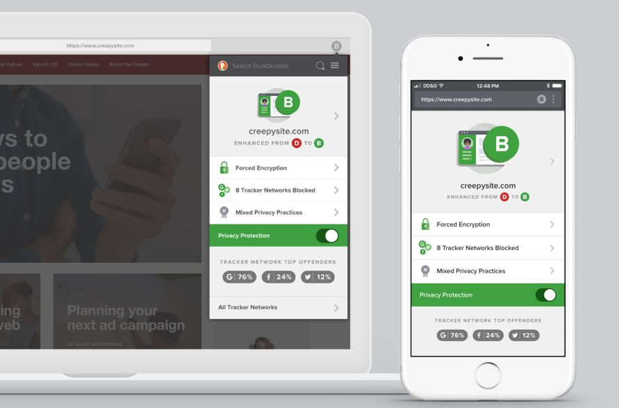 duckducgo extension and app