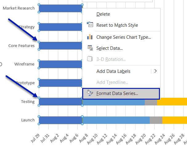 Click Format Data Series