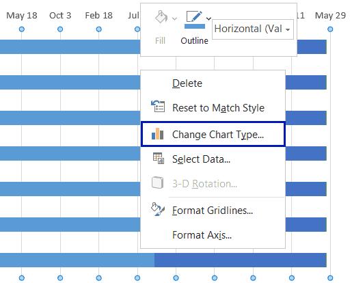 Select Change Chart Type