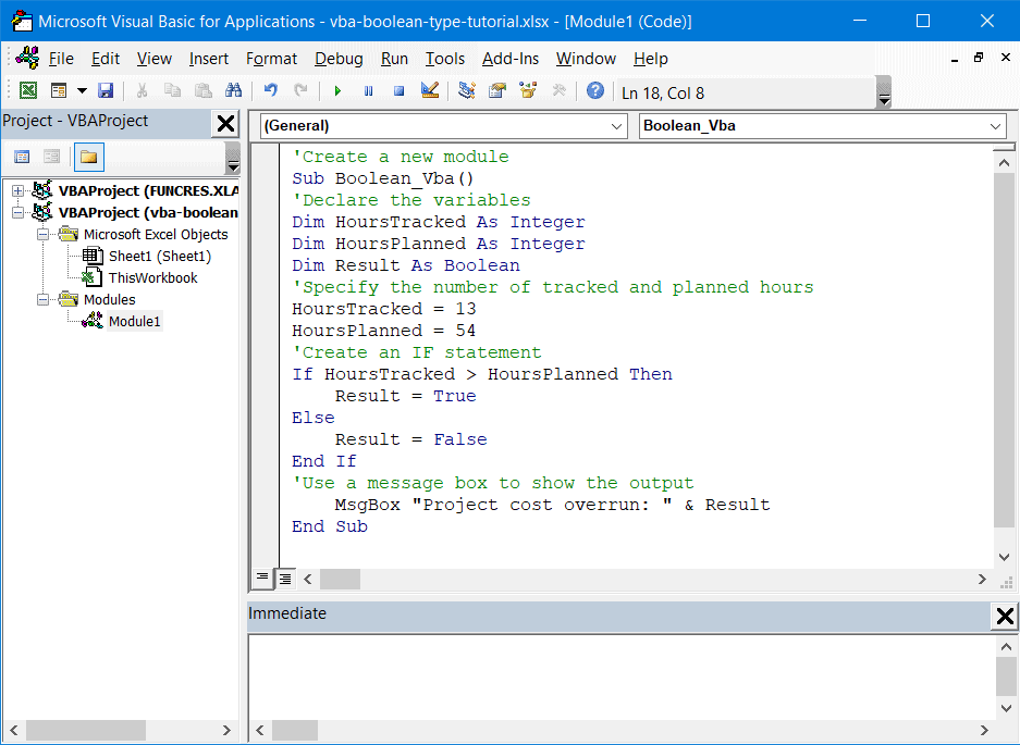Using Boolean variables with IF statements