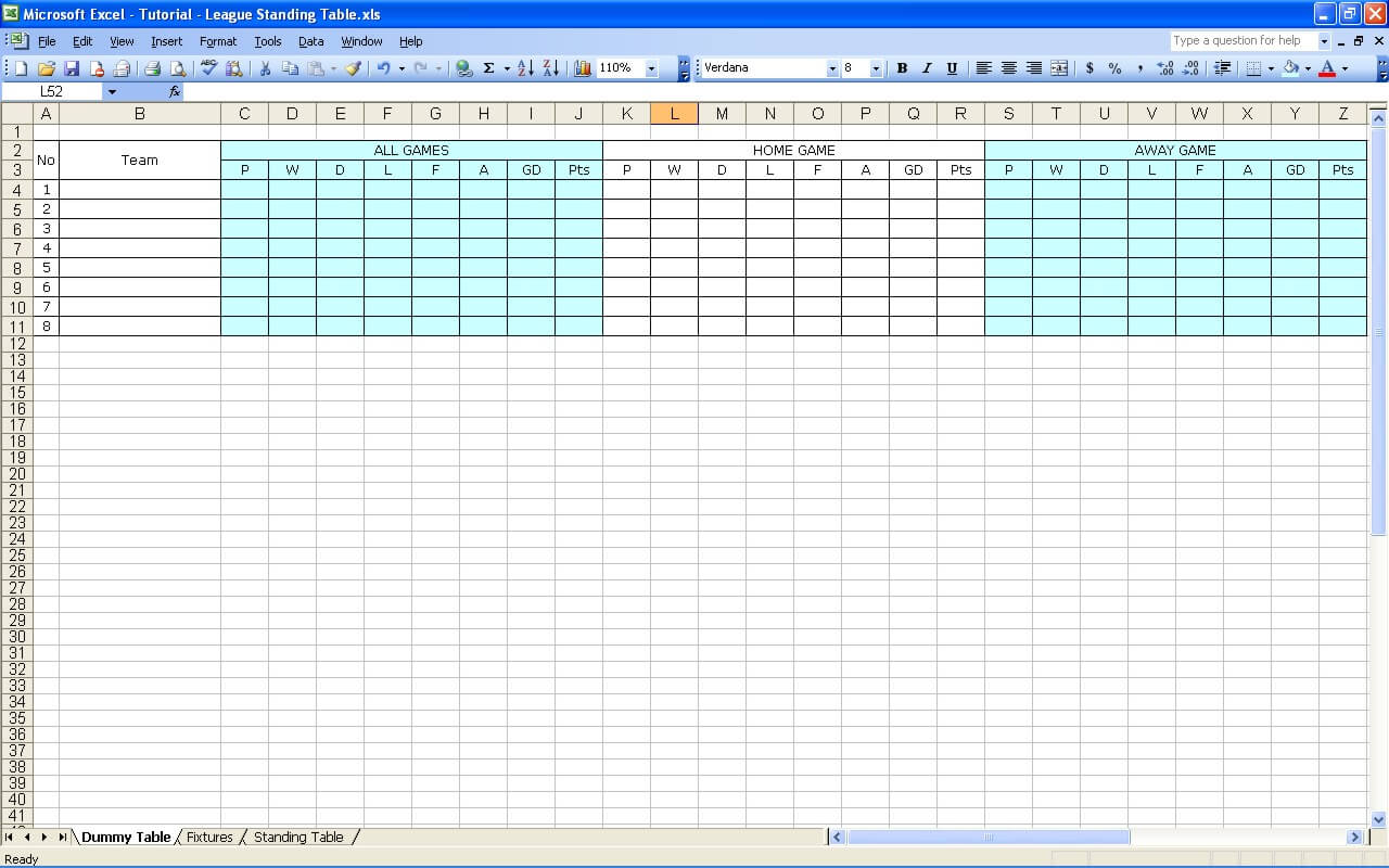 Create Your Own Soccer League Fixtures And Table The