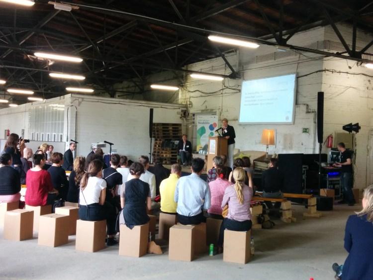 Bürgermeisterin Franziska Giffey eröffnet den Neuköllner KreativKongress am 08.07.2016