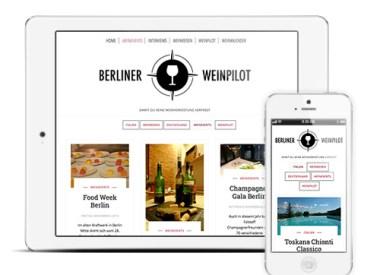 Berliner Weinpilot Blog mit Kalenderfunktion