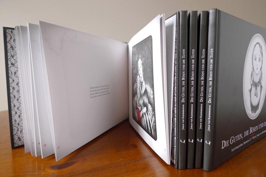 Buchgestaltung, Buch Design, Reinzeichnung