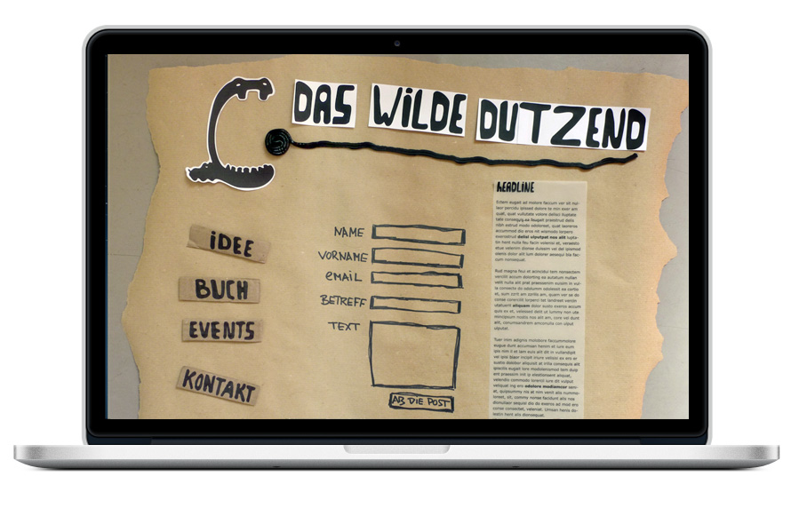 Das wilde Dutzend, Verlag Webseite Kontaktformular