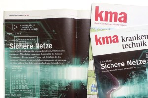 Editorial Design, Zeitschriften für kma, das gesundheitswirtschaftsmagazin