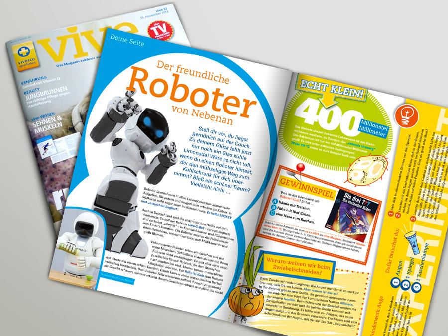 Kinderseiten für Kundenmagazin