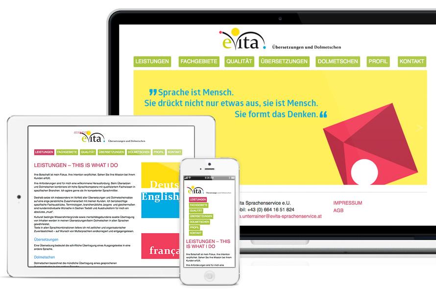 Webseite Gestaltung in wordpress, responsive