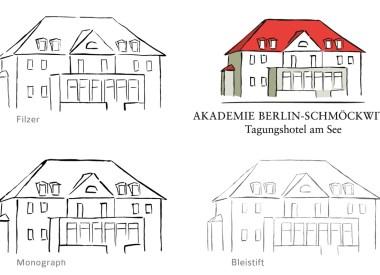 Logo Entwicklung für Akademie Berlin-Schmöckwitz, Tagungshotel am See