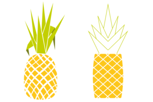 Ananas digital in Illustrator