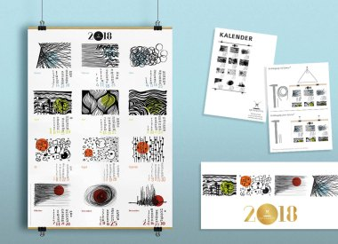 Kalender, Jahreskalender, Illustrationen, Kundenpräsent